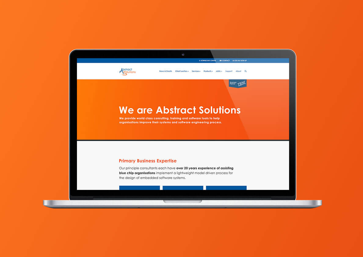 Abstract Solutions website concept