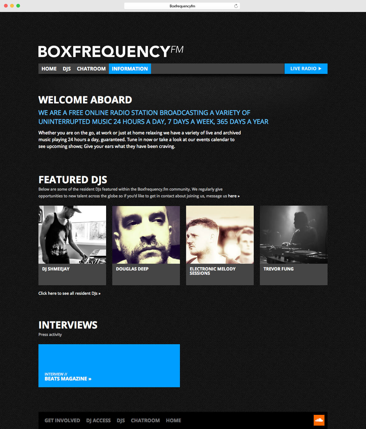 Boxfrequency.fm information page