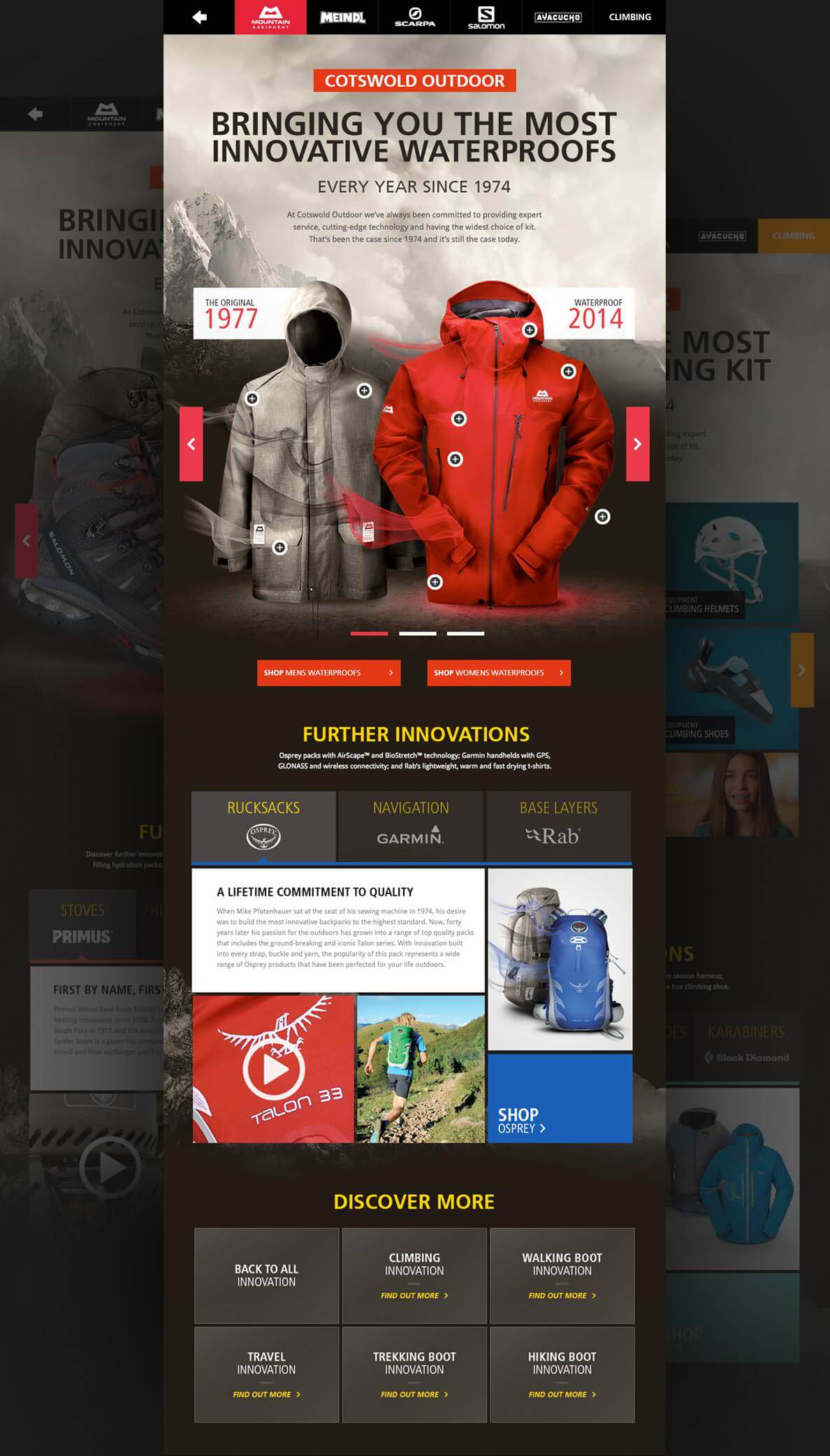 Gore-tex® mobile design