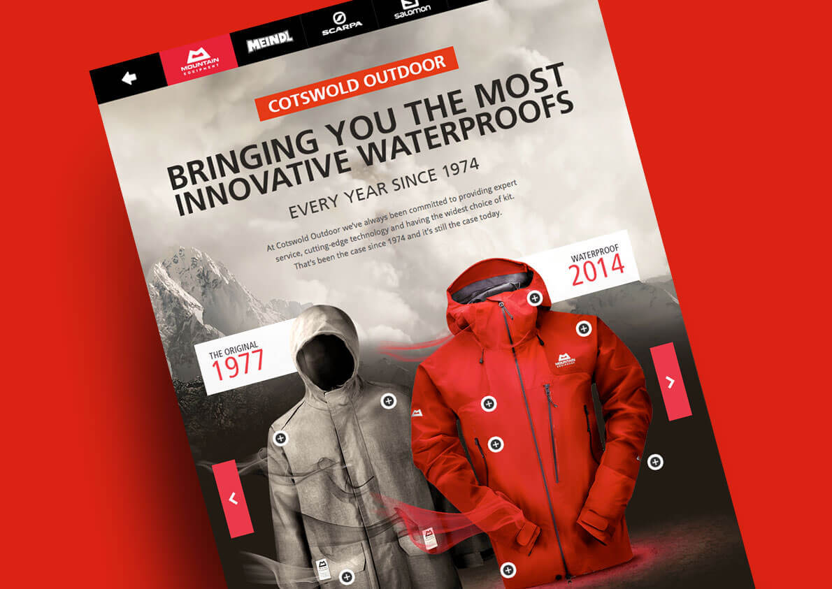 Work as a digital designer for Cotswold Outdoor